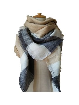Fashion Large Square Cashmere Scarve Exquisite Female Square Scarve