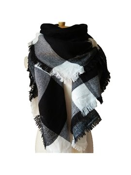 New Winter Lattice Style Warm Large Size Square Scarves