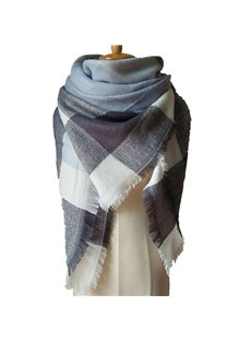 Fashion Popularity Contrast Color Design Cashmere Warm Charming Square Scarves