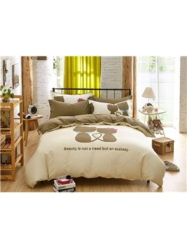 Lovers World Pattern Kids Cotton 4-Piece Duvet Cover Sets