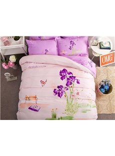 Love Contract Pattern Kids Cotton 4-Piece Duvet Cover Sets