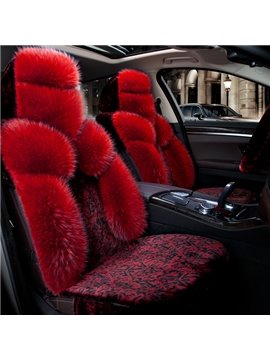Fascinating Red Wool Material Winter Warm Pretty Popular Universal Car Seat Cover