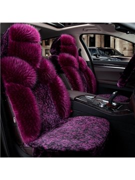 Magic Charming Purple Style With Warm Wool Winter Necessary Universal Car Seat Cover