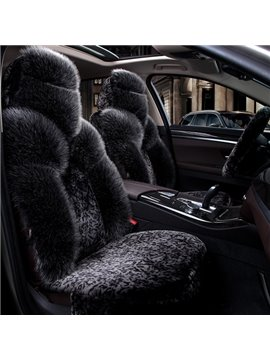 Pure Wool Attractive Black Special Design Warm Winter Universal Car Seat Cover