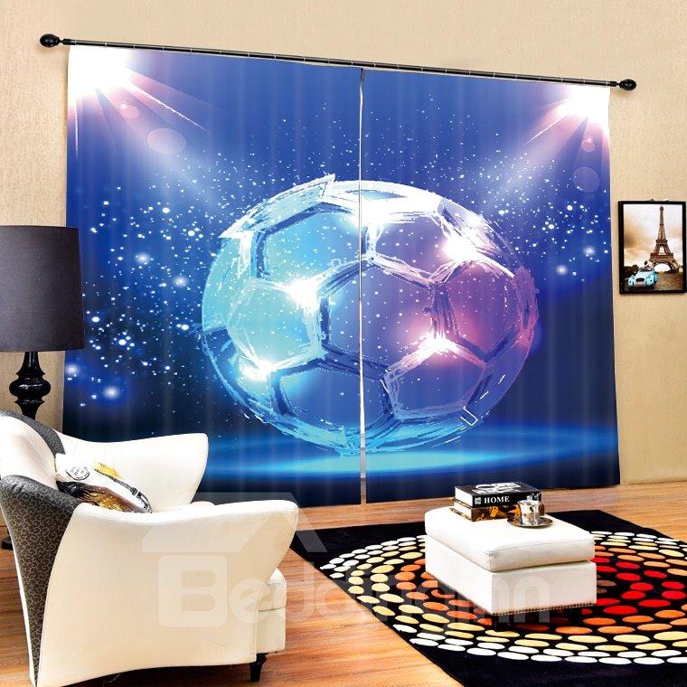 Magic Dreamy Soccer Printing 3D Curtain