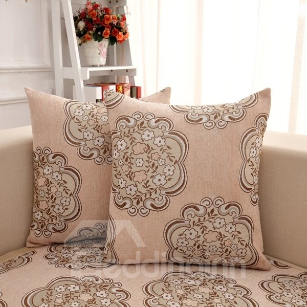 European Decorative Pillows : European Style Gray Flower Pattern Home Decorative Sofa Throw Pillow - beddinginn.com