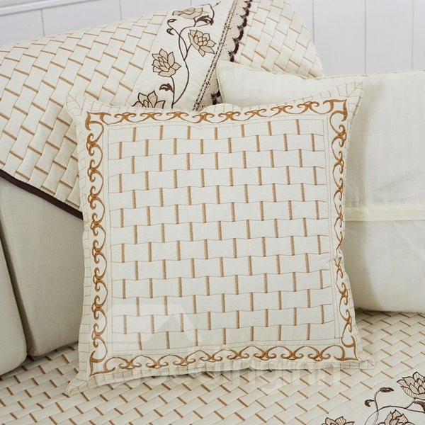 Throw Pillow Cover Pattern With Zipper : White Warm Unique Pattern Design with Invisible Zipper Sofa Throw Pillow - beddinginn.com