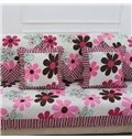 Warm Square Little Flower Pattern Home Decorative Sofa Throw Pillow