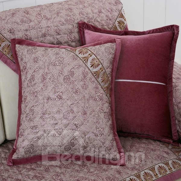 Throw Pillow Cover Pattern With Zipper : European Style Flower Pattern Sofa Decorative with Invisible Zipper Throw Pillow - beddinginn.com