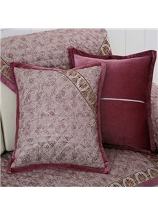 European Style Flower Pattern Sofa Decorative with Invisible Zipper Throw Pillow