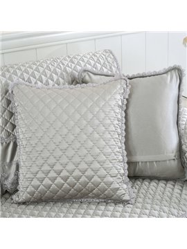 Delicate Quilting Plaid Pattern with Invisible Zipper Sofa Throw Pillow