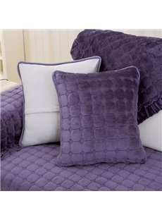 Creative Square Flannel 5 Colors Sofa Decorative Throw Pillow