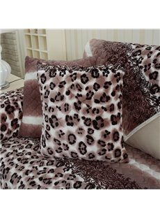 Unique Design Square Leopard Print with Invisible Zipper Decorative Sofa Throw Pillow