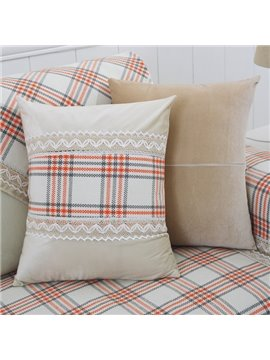 Colorful Strips Print Polyester Fiber Washable with Invisible zipper Sofa Throw Pillow