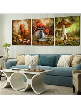 Natural Beautiful Mushroom Pattern None Framed Wall Art Prints