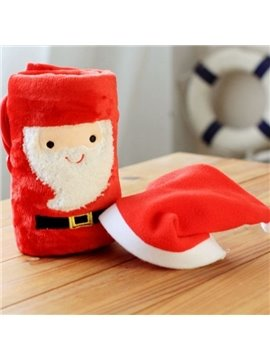 Likable Santa Claus Design Christmas Coral Blanket