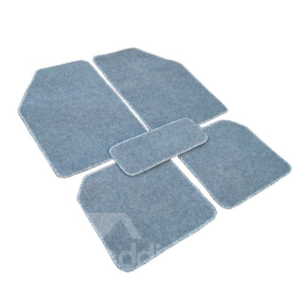 Solid Color Simple Design Popular Cost-Effective 5-Pieces Universal Car Carpet