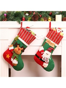 Lovely Christmas Decorative Santa Claus Pattern Stocking Wall Decors