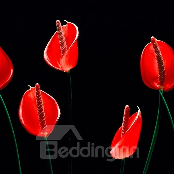 Simple Style Beautiful Flower Pattern None Framed Wall Art Prints