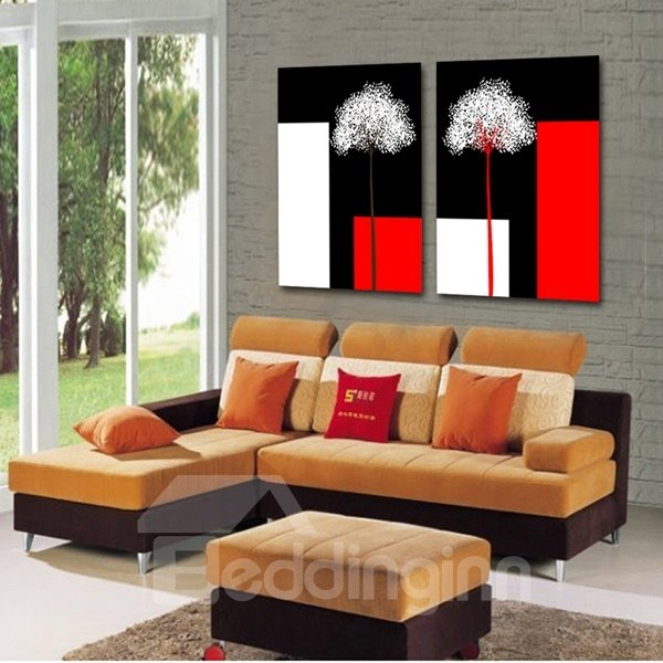 Unique Design with white Dandelion Pattern None Framed Wall Art Prints
