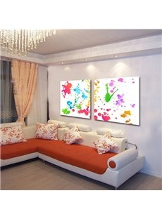 Simple Style Colorful Paint Pattern 2 Pieces None Framed Wall Art Prints