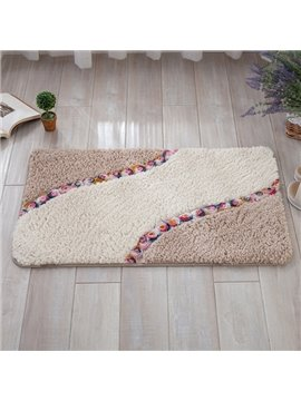 Gorgeous Three-dimensional Roses Flower Pattern Rectangle Slip Resistant Water Absorption Doormat
