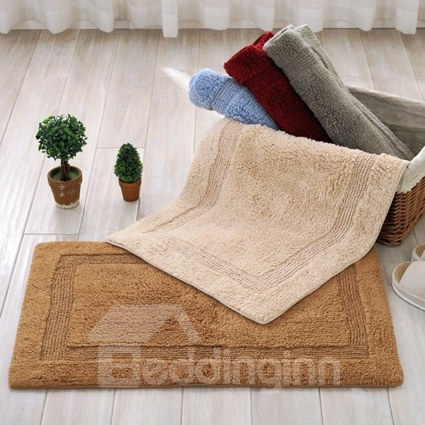 soft cotton chenille rectangle double sided washable
