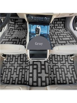 Cool Gray And Black Mixed Comfortable Useful Front And Rear Dedicated Car Carpet
