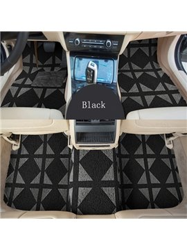 Diamond Shape Fashion Pattern Black Color Front And Rear Car Carpet