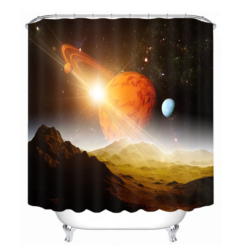 The Surface of Planet Printing Bathroom Decor 3D Shower Curtain