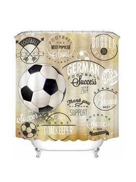 Inspiring Soccer Printing Bathroom 3D Shower Curtain