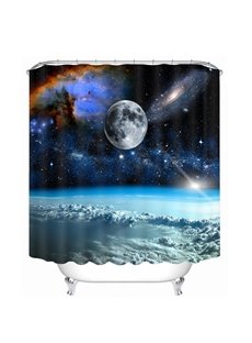 Amazing Space Printing Bathroom 3D Shower Curtain