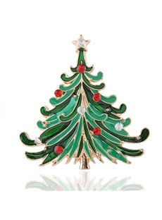 Charming Christmas Style Christmas Tree Design Brooch
