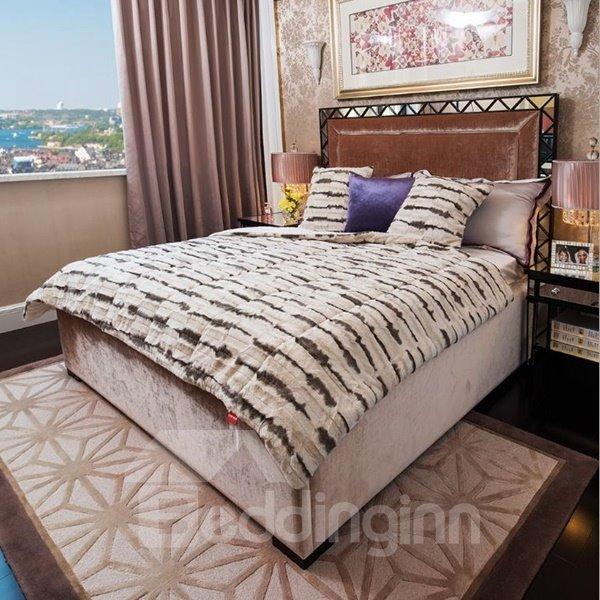 Personalized Design Comfortable Short Plush Stripes Quilt