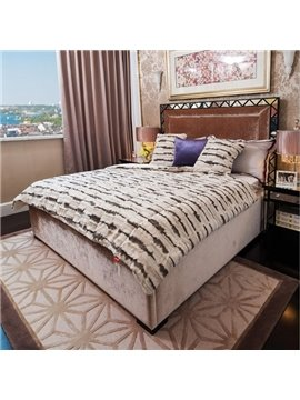Personalized Design Comfortable Short Plush Stripes Quilt