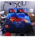 Creative Halloween Party Print 4-Piece Polyester Duvet Cover Sets