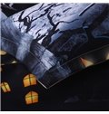 Cool Happy Halloween Print 4-Piece Polyester Duvet Cover Sets
