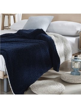 Fancy Graceful Solid Color Imitated Cashmere Blanket