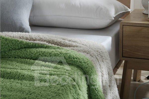 Fancy Graceful Solid Color Imitated Cashmere Blanket