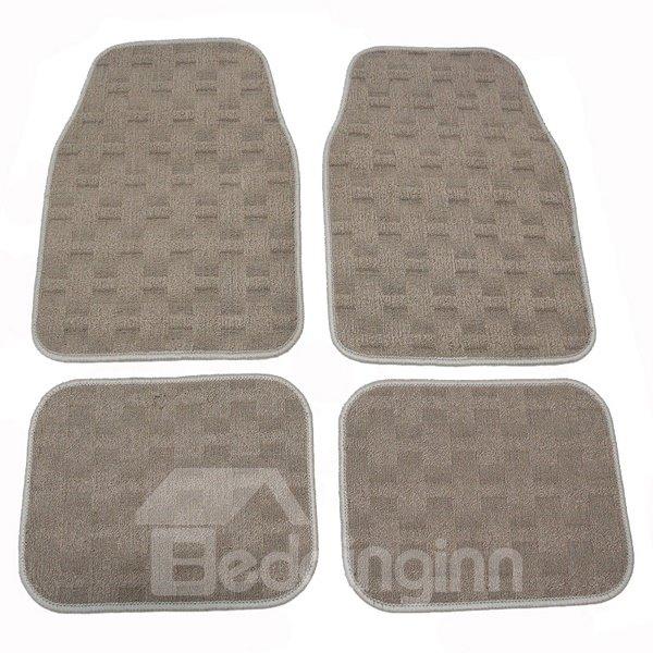 Comfortable Velvet Material Easy Clean 4-Peices Universal Car Carpet
