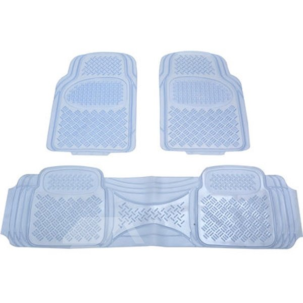 Wear PVC Translucent With Anti-Skid Design 2-Front And 1-Piece Rear Overall Universal Car Carpet