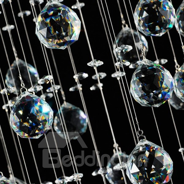 Shining Rectangle Fashion Design Crystal 6 Bulbs Decorative Flush Mount