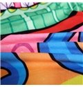 Muticolor Sailing Pattern Kids Polyester 4-Piece Duvet Cover Sets