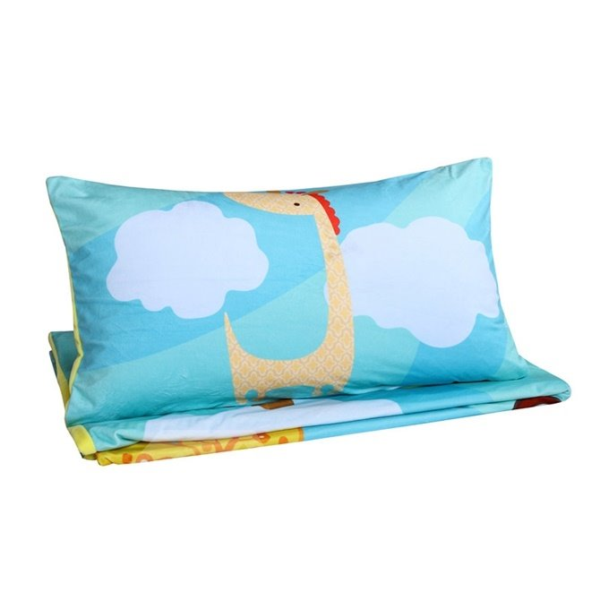 Colorful Rainbow Deer Pattern Kids Polyester 4-Piece Duvet Cover Sets