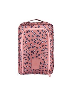 Pink Leopard Point Multi-Functional Waterproof Space Saver Bag Travel Shoes Bag Organizers