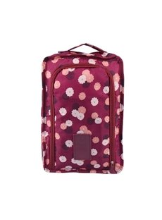 Claret Daisy Multi-Functional Waterproof Space Saver Bag Travel Shoes Bag Organizers