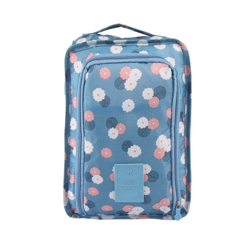 Blue Daisy Multi-functional Waterproof Space Saver Bag Travel Shoes Bag Organizers