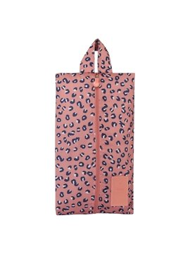 Pink Leopard Point Portable Waterproof Oxford Fabric Travel Shoe Bag with Zipper Closure