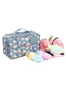 Blue Daisy Multi-Functional Travel Underwear and Socks Organizer Bag