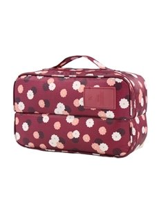 Claret Daisy Multi-Functional Travel Underwear and Socks Organizer Bag